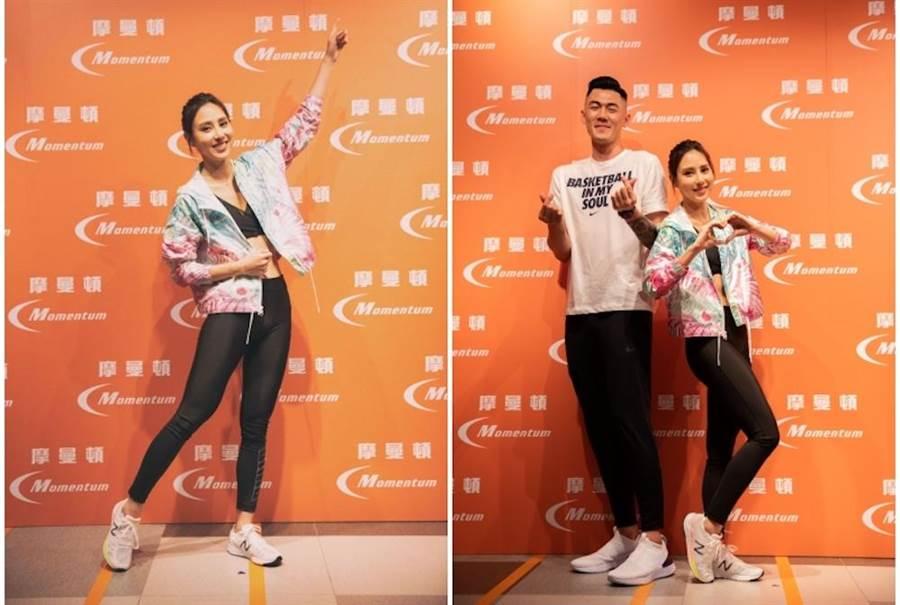 房思瑜與CBA球星劉錚出席活動。