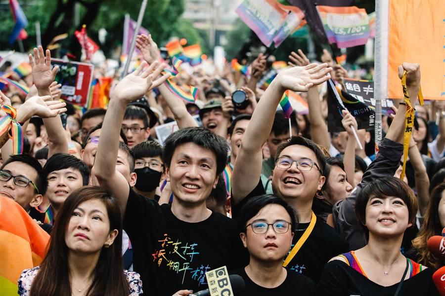 同婚專法三讀通過,台灣成亞洲第一。(郭吉銓攝)