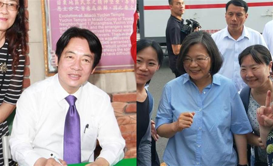 賴清德(左)與蔡英文(右)。 (圖/資料照片合成)