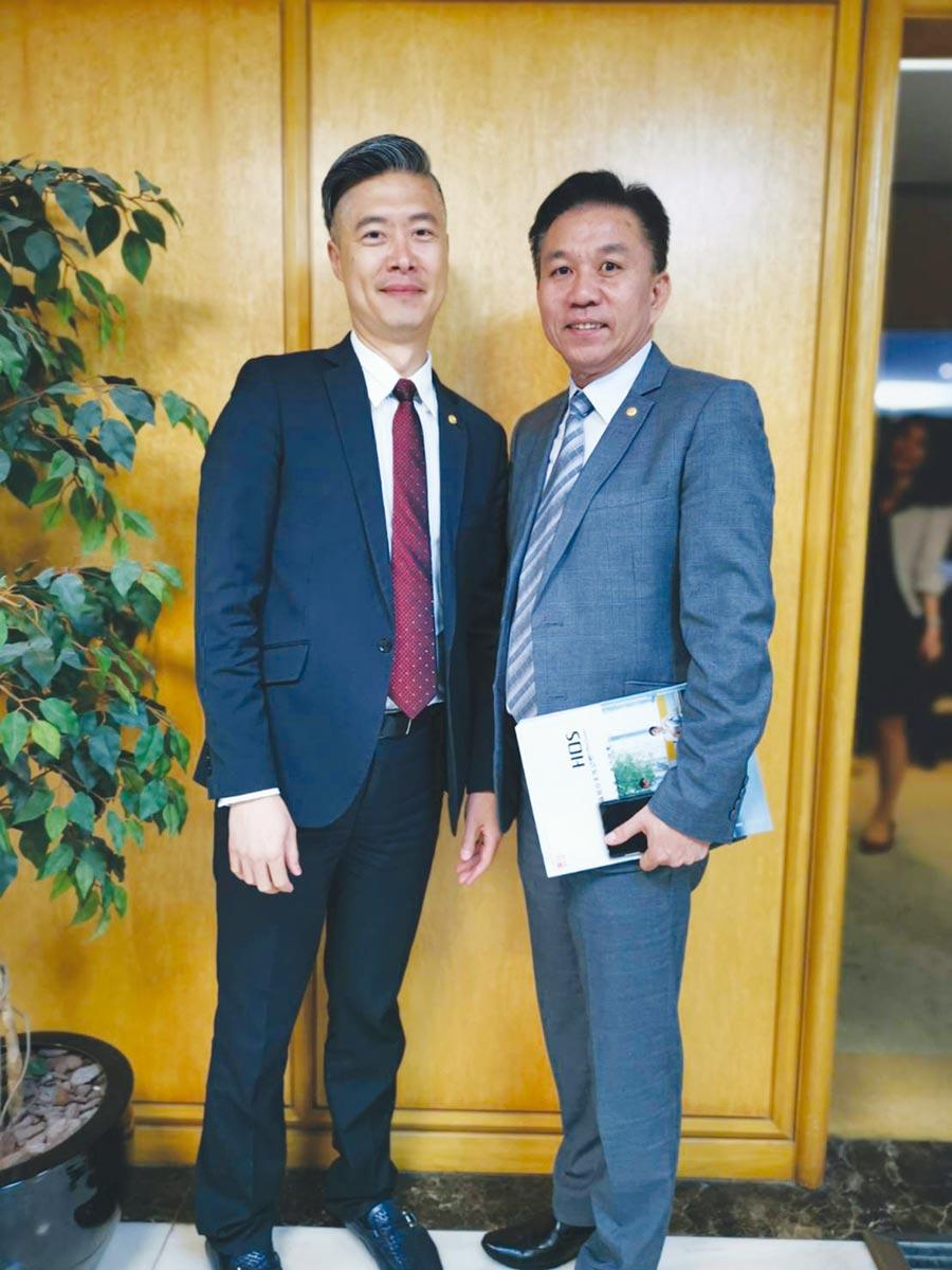 震旦行總經理馬志賢(左)及互盛董事長廖慶章(右)。圖/王淑以