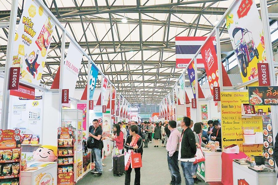 第20屆中國國際食品和飲料展覽會14日在上海開幕。(中新社)