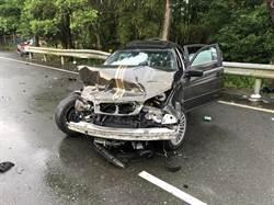 關西台三線車禍 酒駕BMW撞機車騎士亡