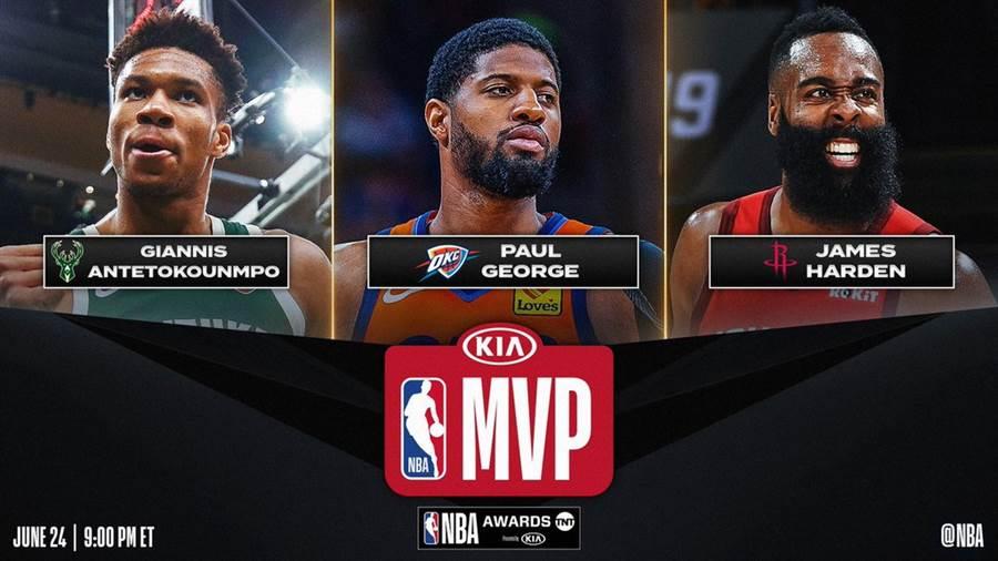阿提托康波(左)將是拿下本季年度MVP最可能人選。(取自NBA官推)