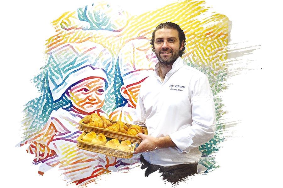 〈My Croissant by Guillaume吉可頌‧丹麥專賣店〉的主人兼主廚吉雍‧佩登(Guillaume Pedron),是法國麵包大師、也是法國國家級麵包烘焙工藝首獎得主的得意門生。圖/姚舜