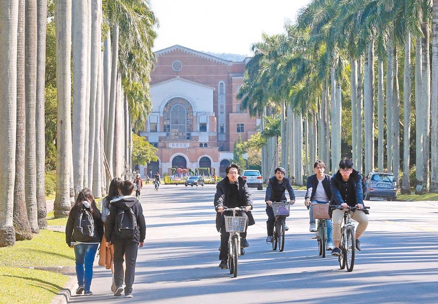 學者盼以教育翻轉的方式,解決公私立大學資源不對等問題,圖為台大校園一景。(本報系記者趙雙傑攝)