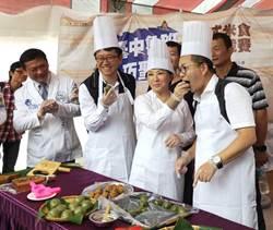 沈玉琳體驗工藝手作 與盧秀燕發揚魯班公匠師精神