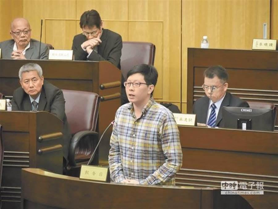 桃園市議員王浩宇。(蔡依珍攝)