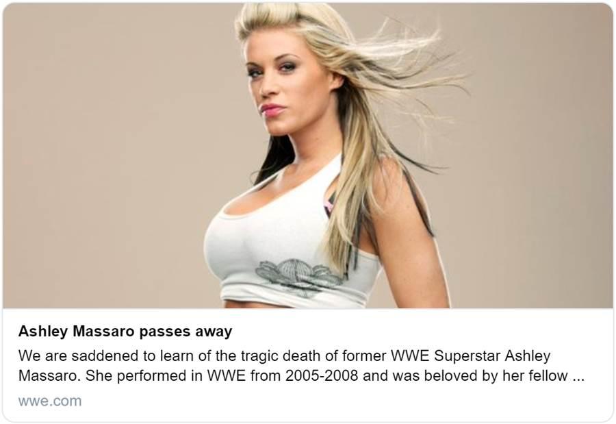前WWE女摔角手艾許莉去世。(摘自WWE推特)