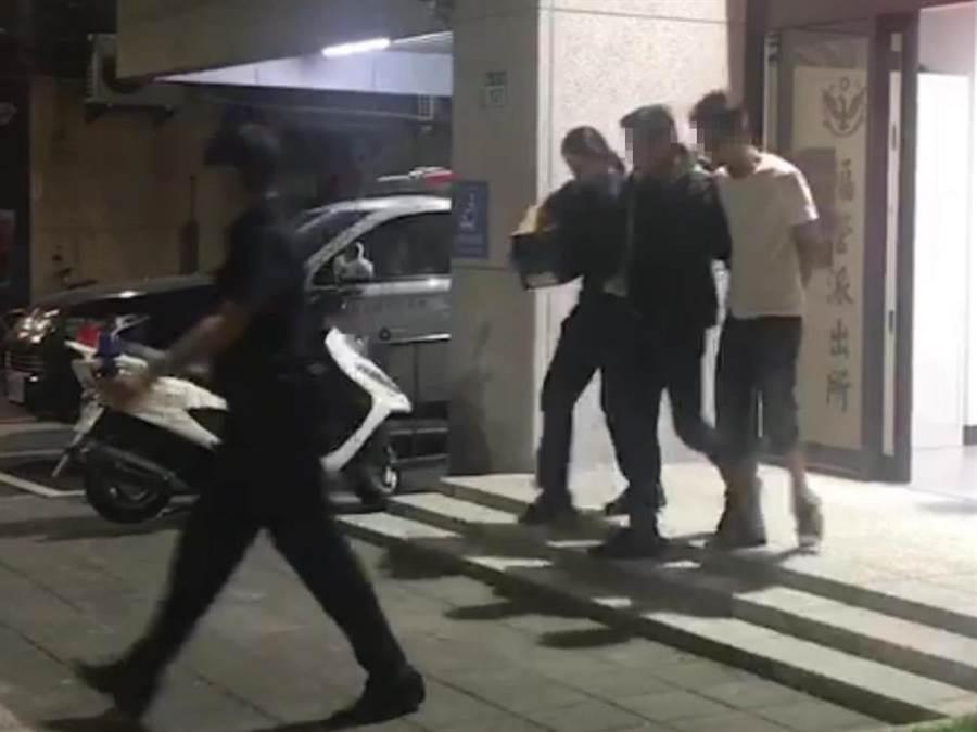 警方獲報後循線逮人,於14日晚間向新北地檢聲請拘票拘提二人到案,依公共危險罪送辦。(吳亮賢翻攝)