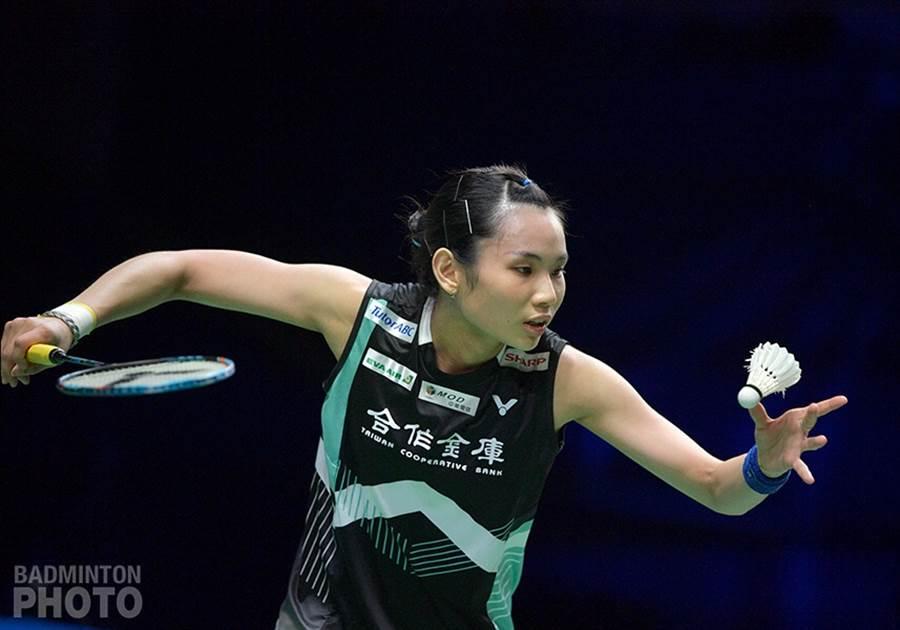 戴資穎在蘇迪曼盃女單賽事2比1力退張雁宜。(資料照/Badminton Photo提供)