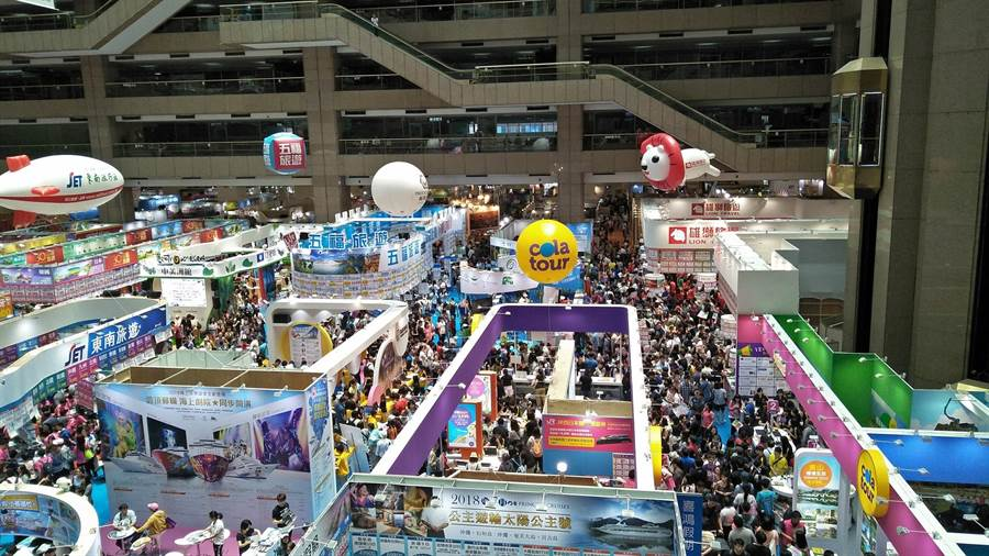 2019上半年度全台最大TTE台北旅展,此刻在台北世貿一館展出,但大陸旅遊業者參與攤位比去年少 3成。(圖擷自台北旅展官網)