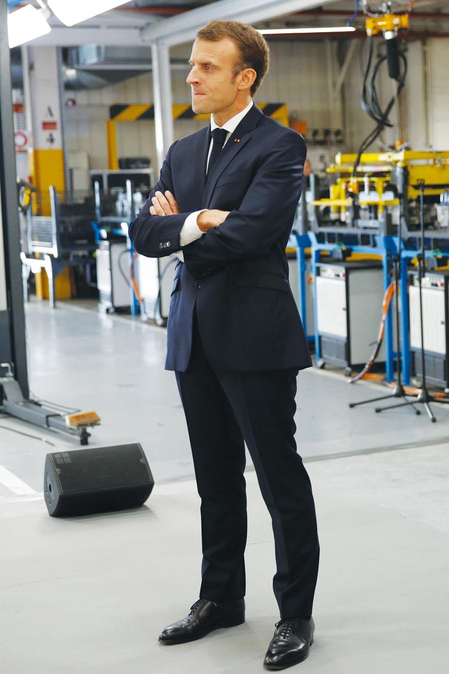 法國總統馬克宏圖╱路透
