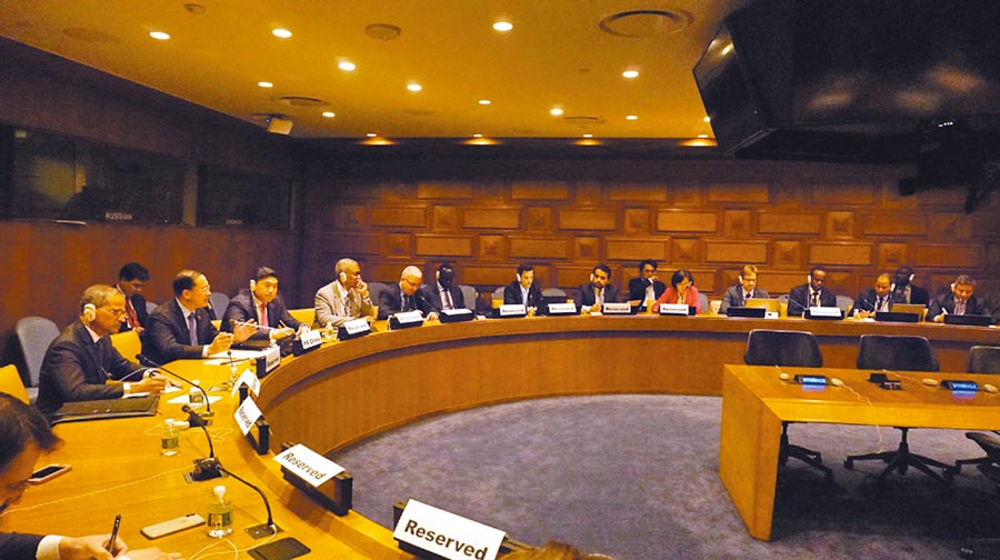 5月17日,大陸在聯合國總部舉行「中美經貿關係」說明會。(取自《中國日報》)