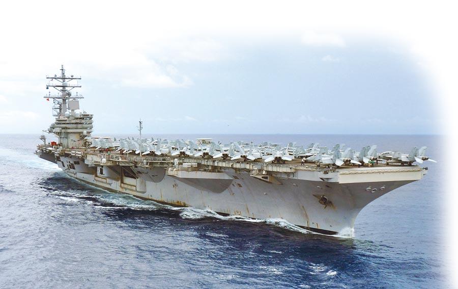 美國雷根號航母(CVN 76)航行在西太平洋地區。(取自美國海軍官網)