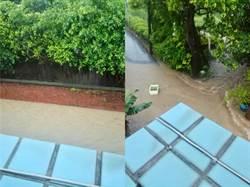 淡水馬路淹成河!網驚:摩西過海