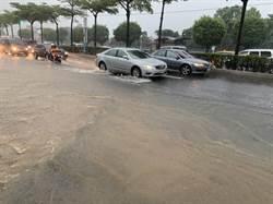 豪雨強襲淡水 真理大學、聖約翰科大宣布停課