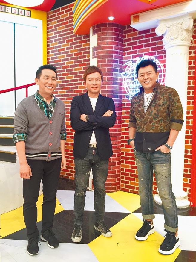 屈中恆(左起)、孫鵬、庹宗康主持《國光幫幫忙》至今已14年。