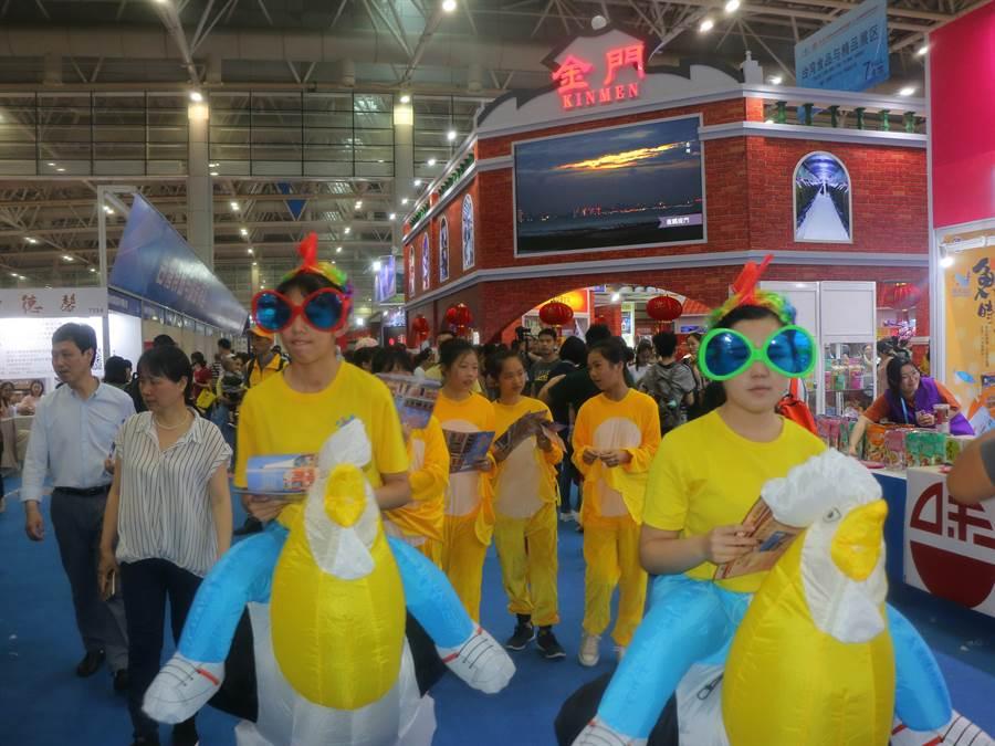 小金門的「風雞」是金門館的活動吉祥物。(金門縣工業會提供)