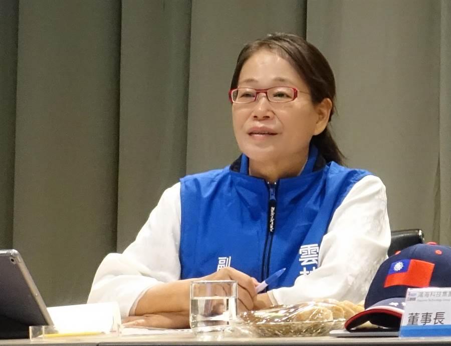 雲林副縣長謝淑亞被認為是國民黨參選雲林縣山線立委強棒,但她強調自己無參選規畫。(許素惠攝)