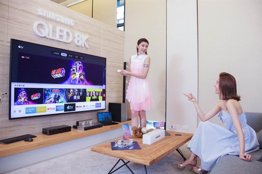 2019年全系列智慧電視及2018年指定電視機型的用戶,將可透過更新支援Apple TV App及AirPlay 2。(圖/三星提供)