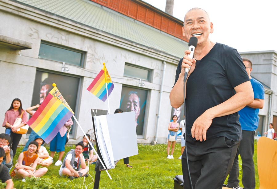 蔡明亮力挺同志平權活動。