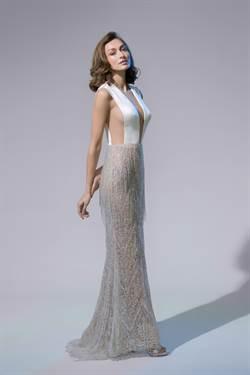 林莉婚紗以珠寶盒為靈感  前胸、腋下、美背全都露