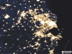 NASA星光地圖 上海不說晚安