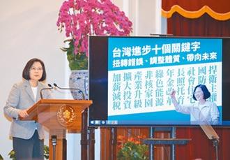 蔡談兩岸政策 要比中國更大聲