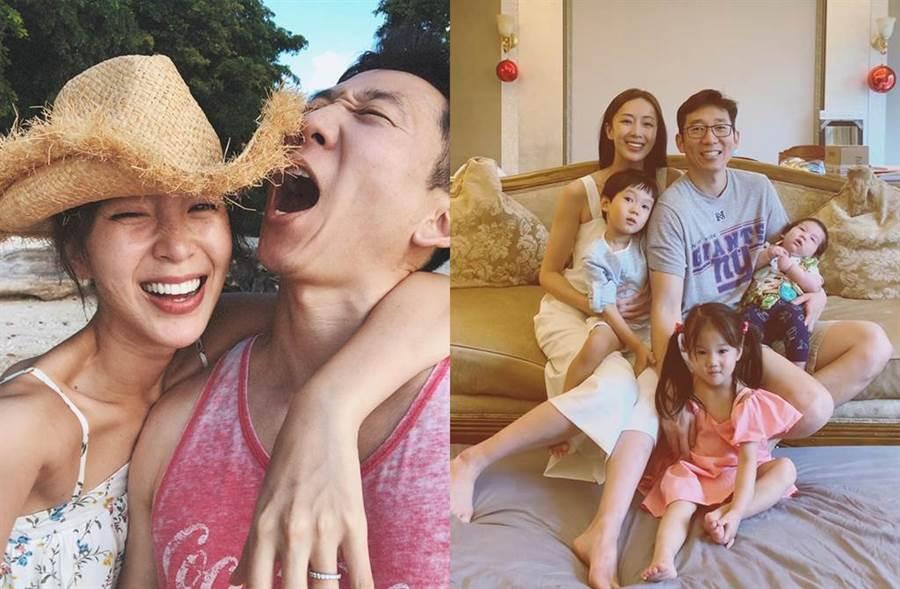 隋棠婚後陸續生下3個寶貝兒女。(圖/翻攝自臉書)