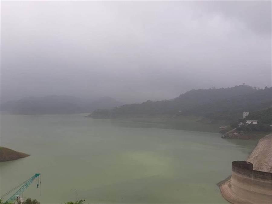 南部山區連日間歇性大雨,曾文水庫蓄水率大增。(劉秀芬攝)