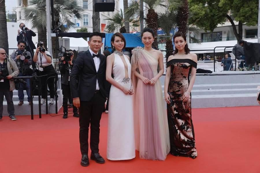 趙德胤帶領3位女演員前往坎城首映。(岸上影像提供)