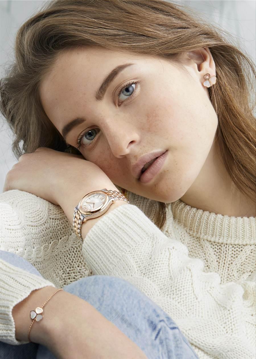 蕭邦Basel Novelty年度新款珠寶腕表登台,風格勇於打破成規,充滿驚喜之美。(Chopard提供)
