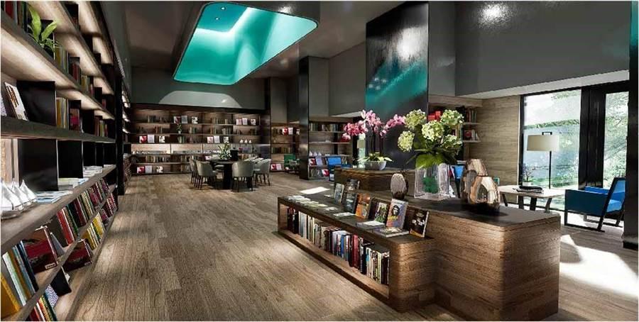 引進紀伊國屋書店,豐富藏書滿足知識需求。圖/業者提供