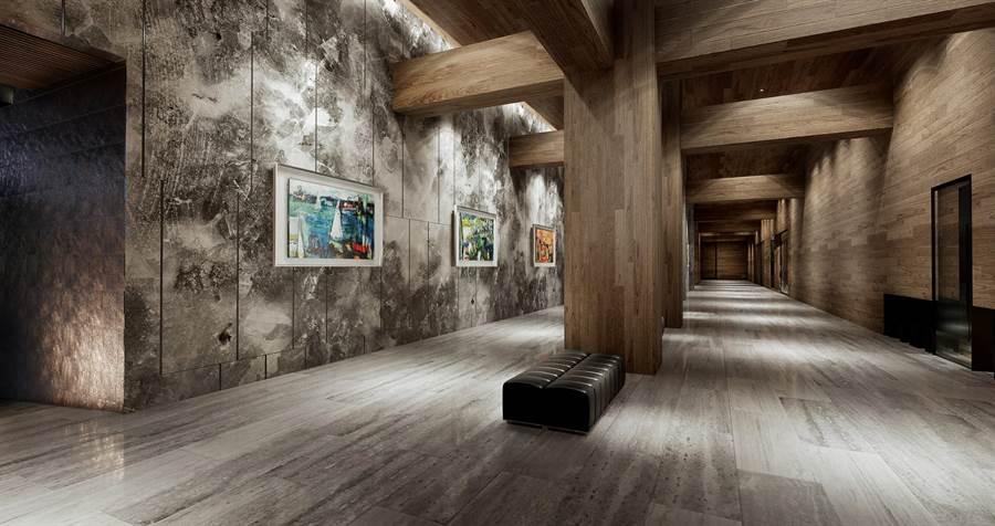 打造藝術長廊,掛上國際畫家柯適中作品,為空間增添藝術氣氛。圖/業者提供