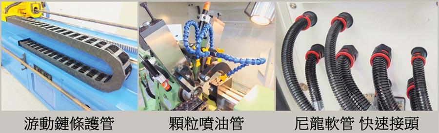 欣軍電路管線零組件深獲國內外業者肯定青睞。圖/欣軍提供