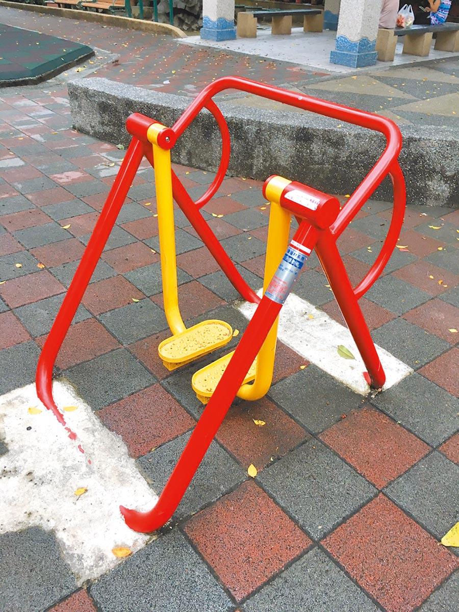台北市公園內體健設施沒有投保意外險。(議員戴錫欽研究室提供)