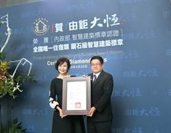 前台中市長豪宅由鉅「大恆」 榮獲鑽石級智慧建築標章