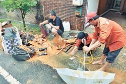 土石流入侵新埔里鎮社區