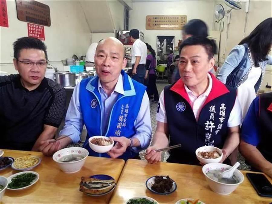 高雄市長韓國瑜愛吃滷肉飯。(中天新聞)