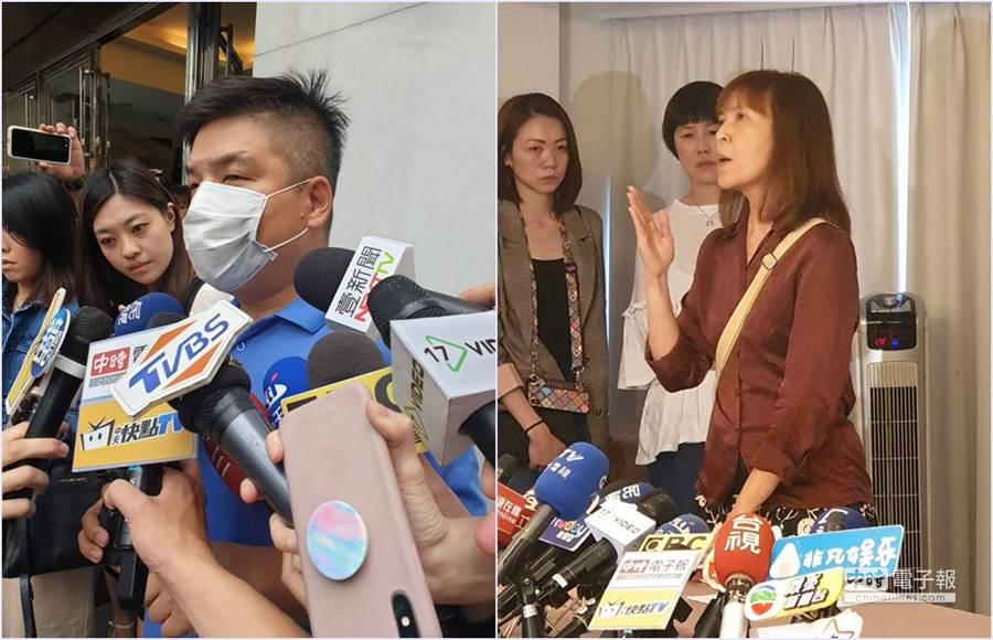 蔡先生(左)、曹小姐(右)。(圖/記者游定剛、沈弘欽攝)