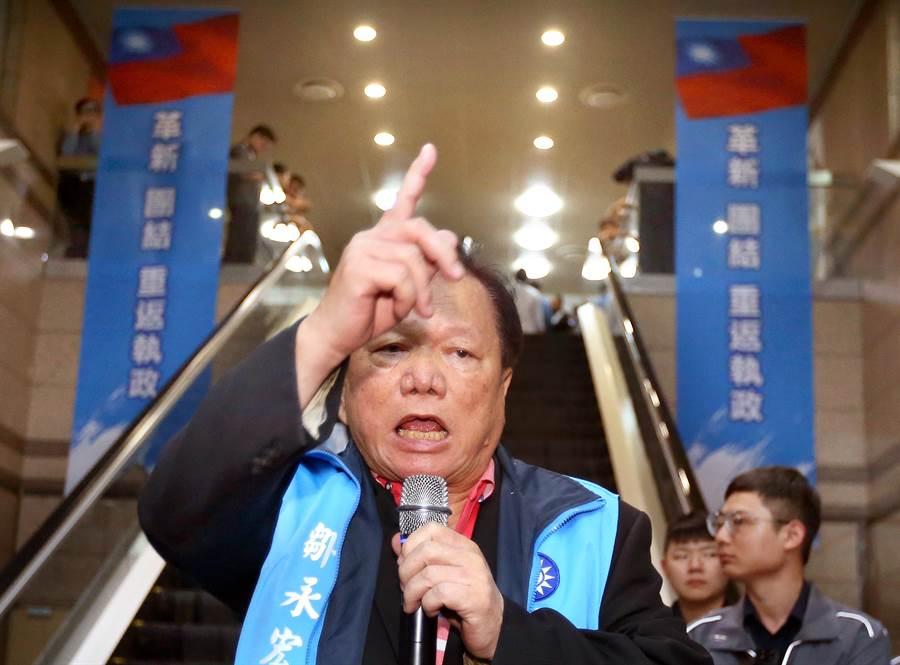 鄒永宏(見圖)揚言將揭發更多黨內弊端。(范揚光攝)