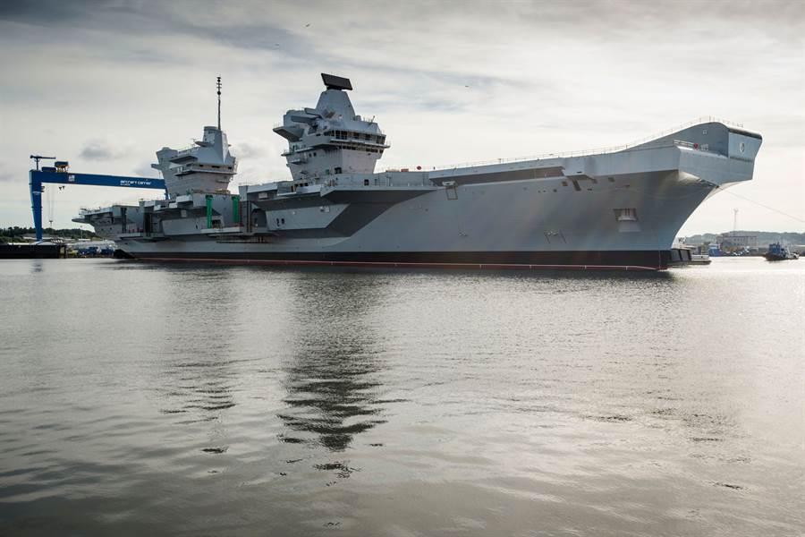 英國伊麗莎白女王號航艦。(圖/英國皇家海軍)