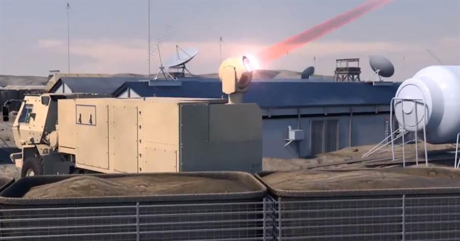雷神展示他們研發的陸上雷射攔截器,可迅速的將來襲飛彈一一擊落。(圖/Raytheon)