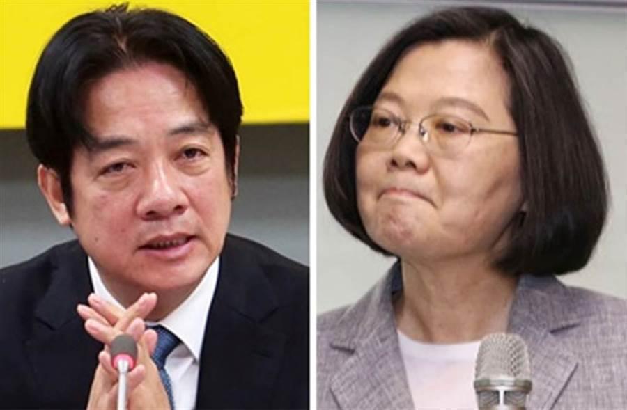對比民調  賴:蔡贏或我輸韓 都支持蔡總統選連任