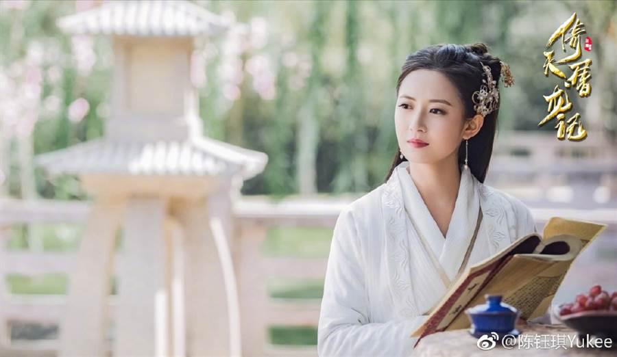 大陸小花陳鈺琪憑著趙敏一角爆紅。(取自陳鈺琪微博)