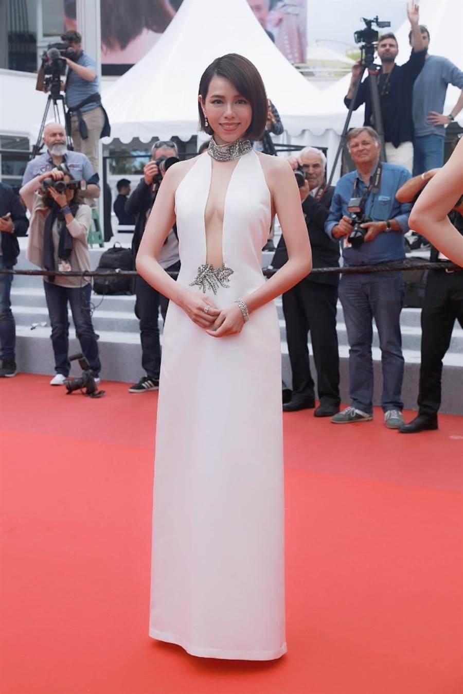 夏于喬被法媒評選為電影節第7天最美的女人。(岸上影像有限公司提供)