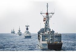 反擊共機繞台 海軍外海秀肌肉