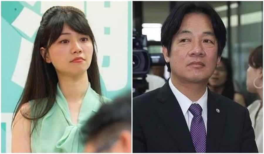 民進黨台北市議員高嘉瑜(左圖)、前行政院長賴清德(右圖)。(本報系資料照片)