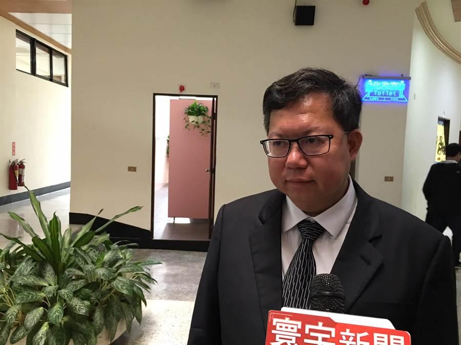桃園市長鄭文燦對於中執會未完成總統初選決議,認為還要取得共識。(甘嘉雯攝)