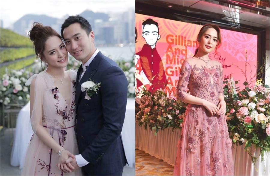 阿嬌去年底和賴弘國登記結婚。(圖/翻攝自鍾欣潼微博)